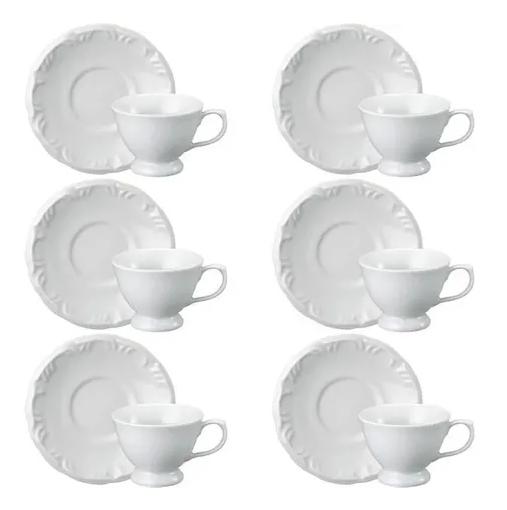 Conjunto de Xícara de Chá com Pires 06 Peças Pomerode Schmidt