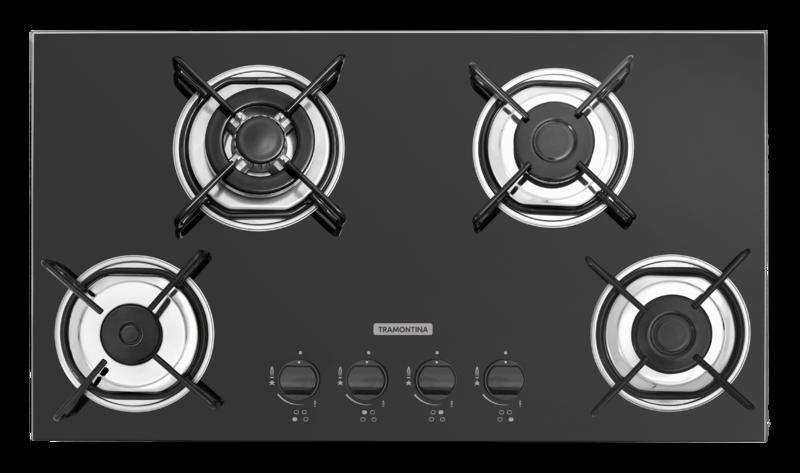 Cooktop 4 Queimadores Gás Vidro Brasil Trapézio 4GG Tri 70x40cm 94753/501 Tramontina
