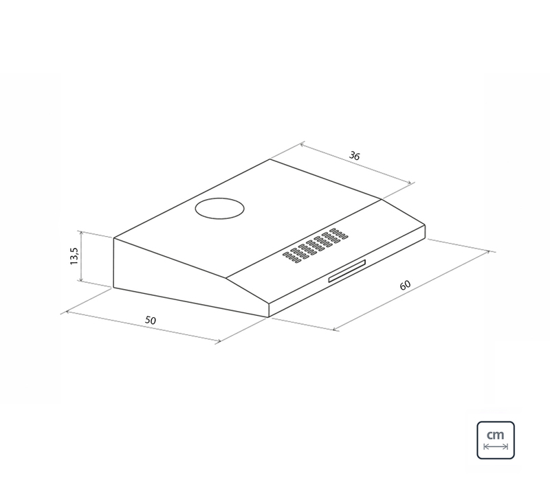 Depurador Aço Inox Compact 60 cm 110 V Tramontina 94810/110