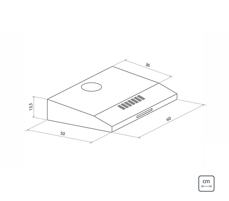 Depurador Aço Inox Compact 60 cm 220 V Tramontina 94810/220