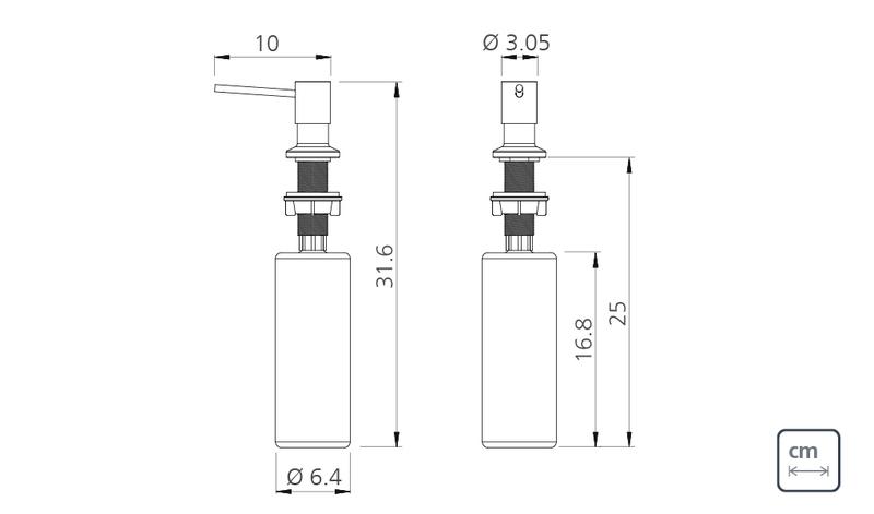 Dosador de Sabão em Aço Inox com Recipiente Plástico 500 ml Tramontina 94517/004