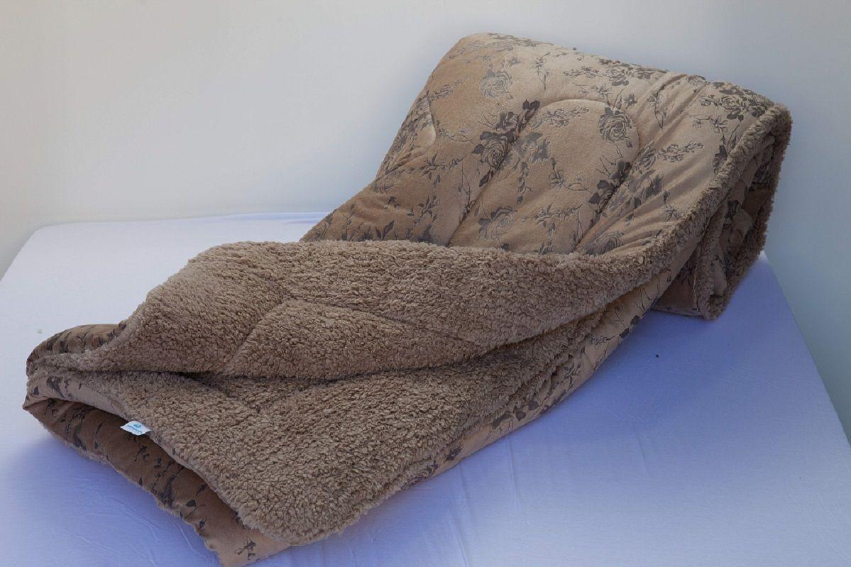 Edredom Solteiro Dupla Face Toque Macio de Pelo de Ovelha 1,6 x 2,20 M