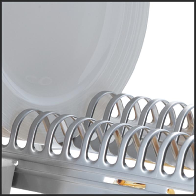 Escorredor de Louça Ciclo em Aço Inox com Porta Talheres Branco Tramontina 61530/100