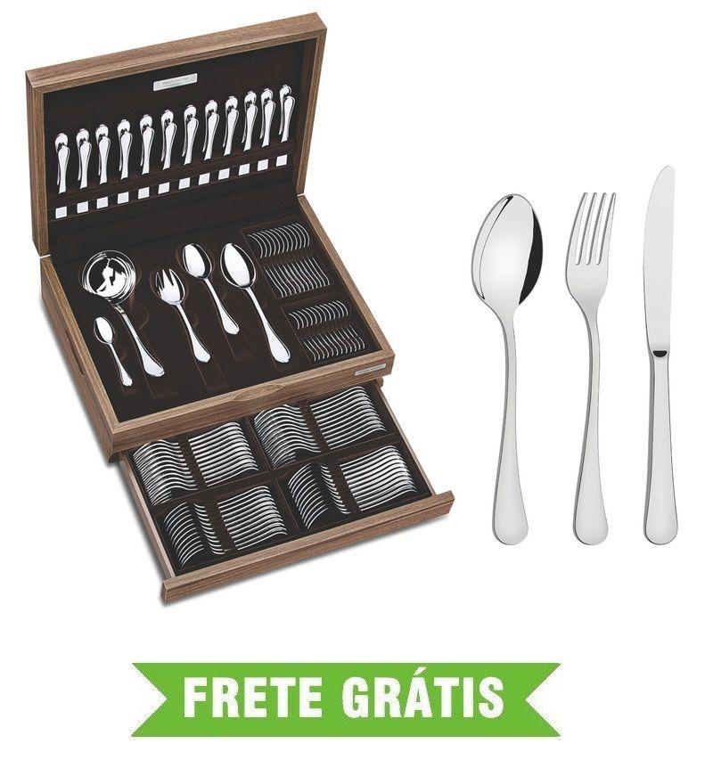 Faqueiro Zurique 101 Peças em Aço Inox Alto Brilho 66986/210 Tramontina