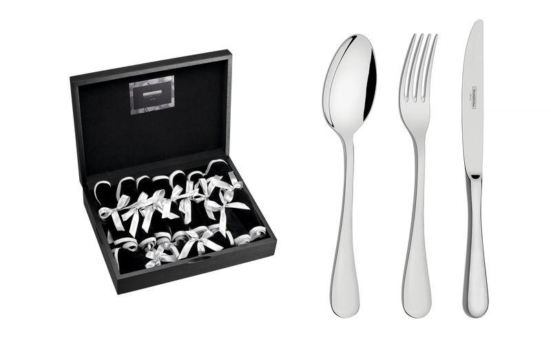 Faqueiro Classic Prata 101 peças Design Collection 66928/855