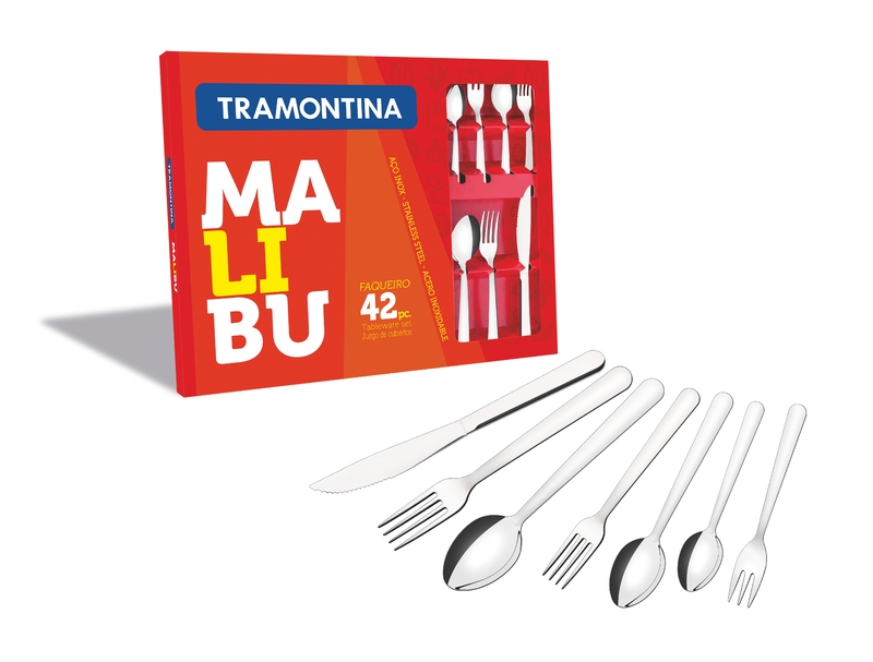 Faqueiro Malibu 42 Peças em Aço Inox Tramontina 23799/039