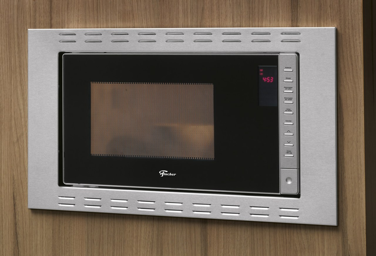 Micro-ondas de Embutir Fit Line 25 L Aço Inox 220 V Fischer