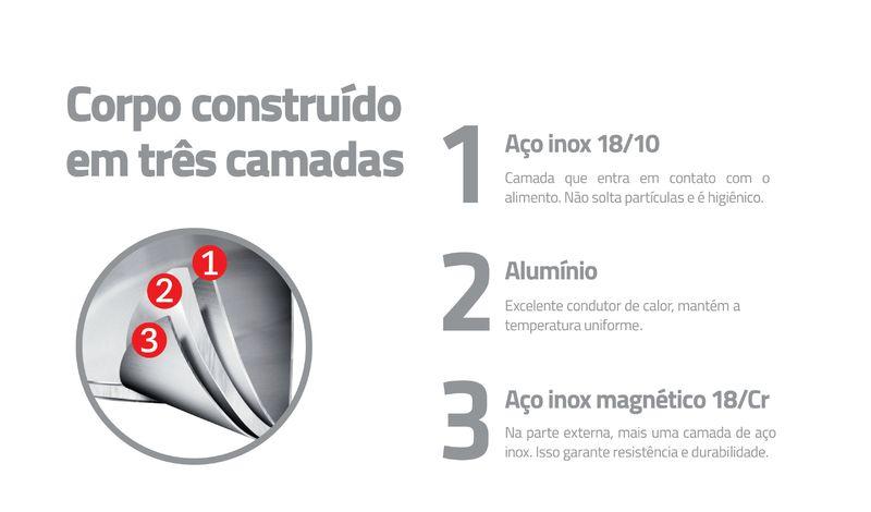 Frigideira Aço Inox Revestimento Cerâmica Trix 30 cm Tramontina 62837304