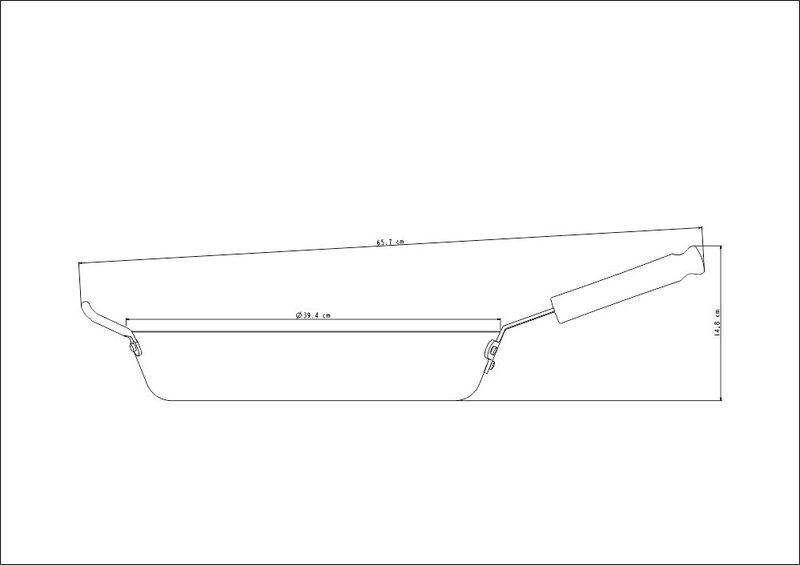 Frigideira Profissional em Alumínio com Revestimento Interno Antiaderente Starflon T3 Cabo Baquelite 38 cm 7,1 L Tramontina 20895/038