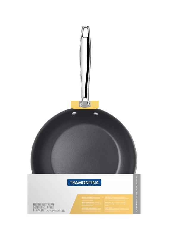 Frigideira Rasa Trix em Aço Inox com Fundo Triplo Revestimento Interno em Antiaderente 20 cm 1,0 L Tramontina 62835/207