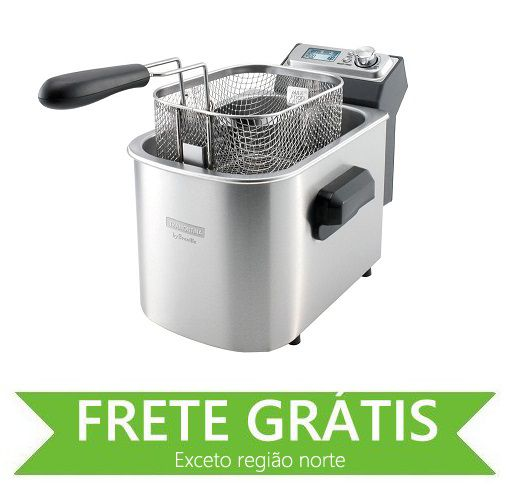 Fritadeira Elétrica Smart  127 V em Aço Inox 7 Funções 4 L Tramontina by Breville 69160011