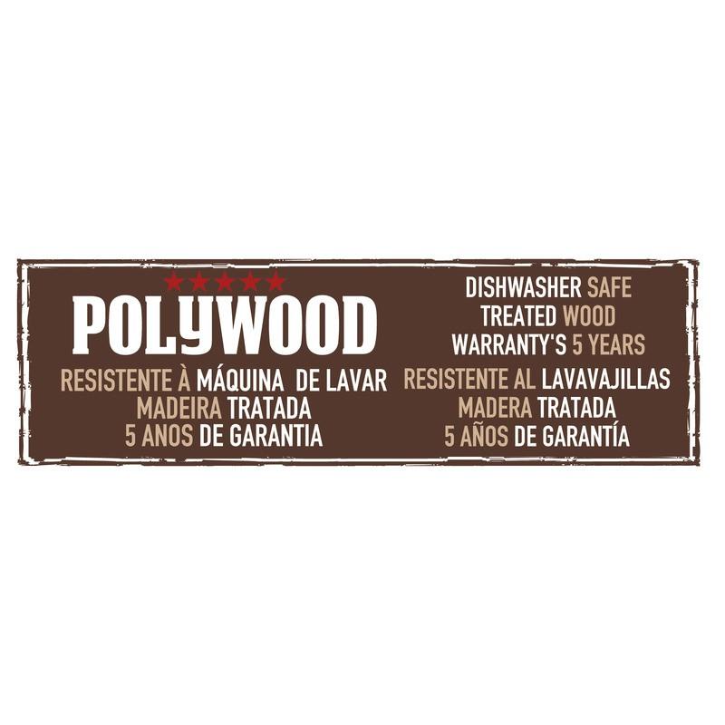 Jogo de Facas Polywood com Lâminas em Aço Inox e Cabos de Madeira Castanho com Suporte de Madeira 6 Peças Tramontina 21199/983