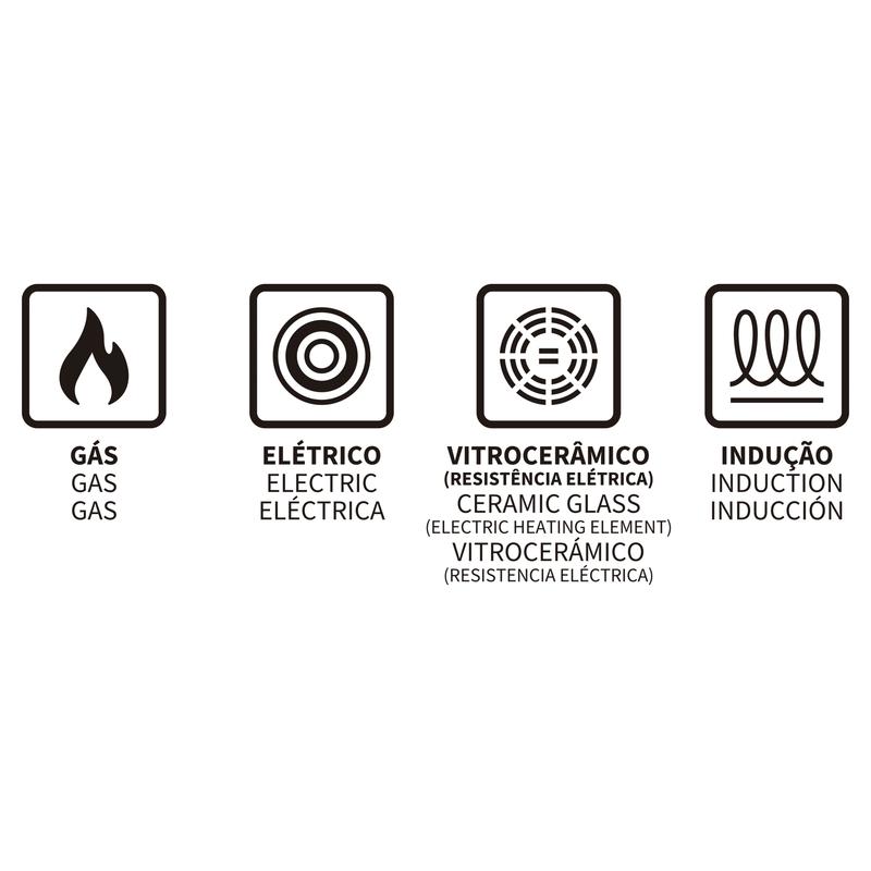 Jogo de Panelas Mônaco Induction 5 Peças Vermelha em Alumínio com Revestimento Interno Antiaderente e Cabo em Silicone Tramontina 28799/702