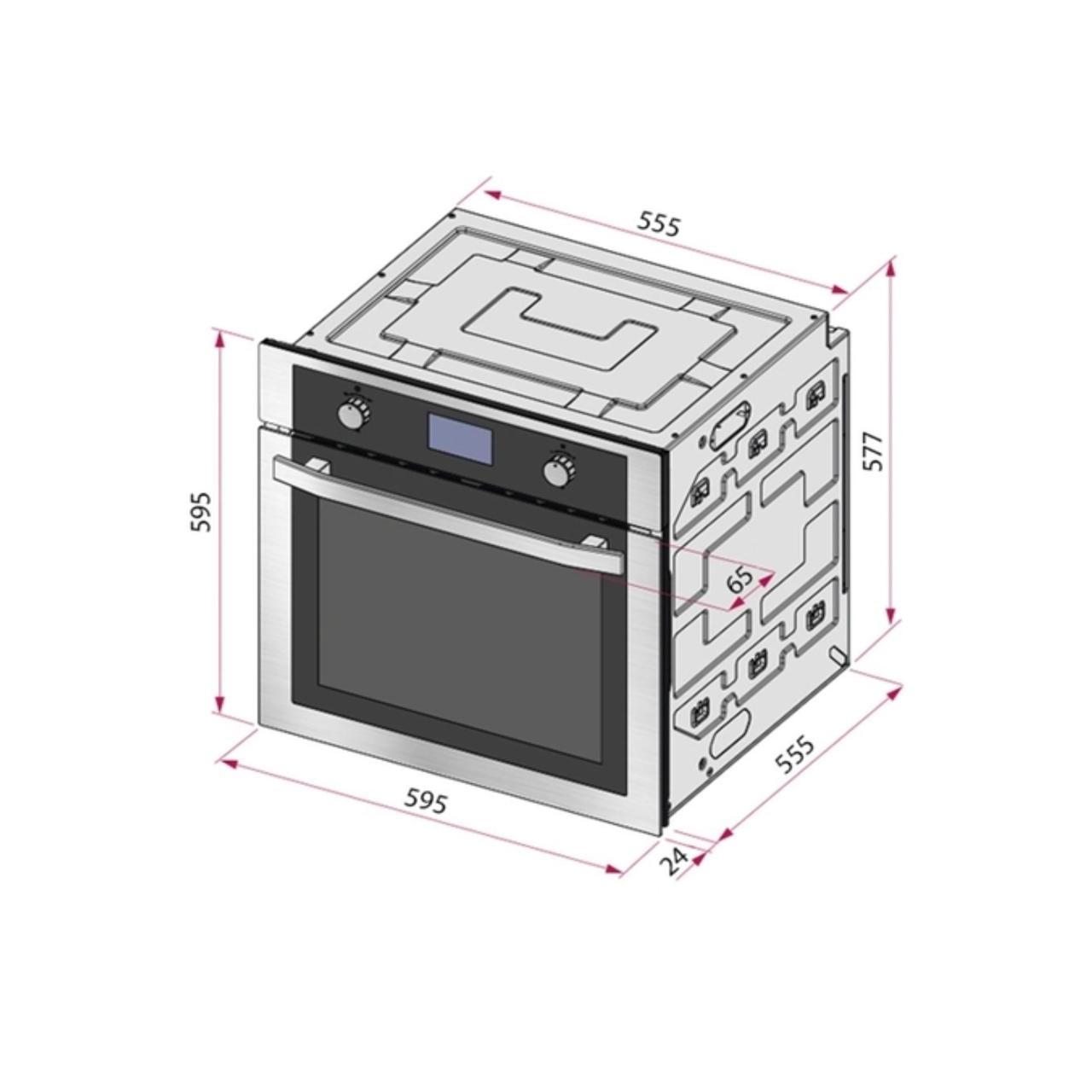 Kit Forno Elétrico de Embutir 69 L com 9 Funções + Micro-ondas de Embutir 25 L com 8 Funções em Aço Inox 220 V Tramontina