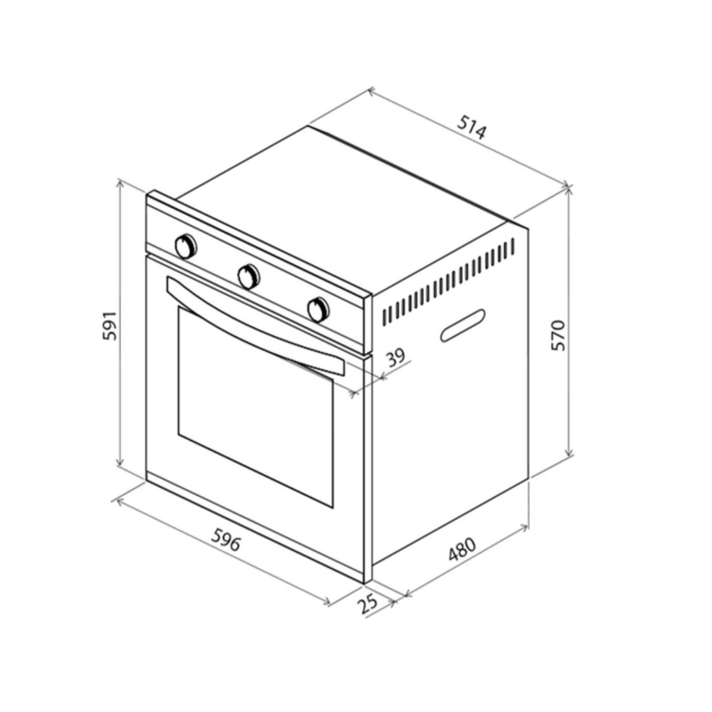 Kit Forno Elétrico de Embutir 70 L com 3 Funções + Micro-ondas de Embutir 25 L com 8 Funções 220 V Tramontina