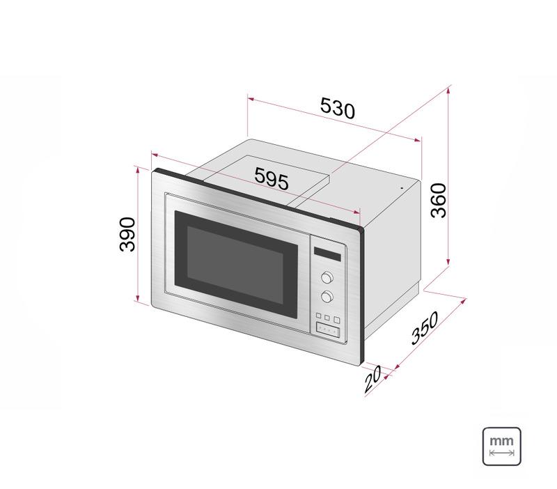 Kit Forno Elétrico de Embutir 71 L com 7 Funções + Micro-ondas de Embutir 25 L com 8 Funções 220 V Tramontina