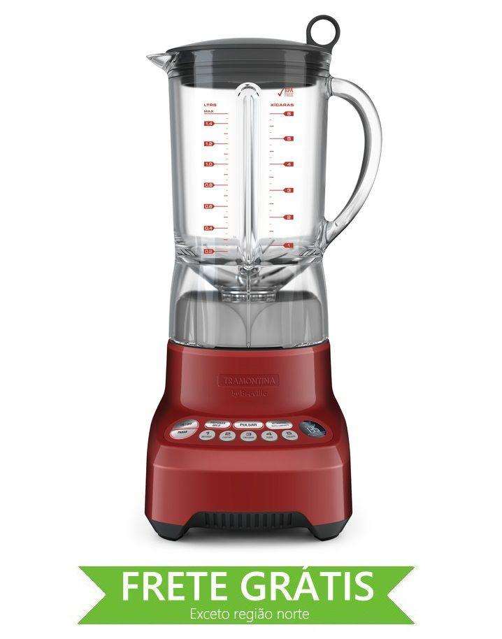 Liquidificador Smart Gourmet Vermelho Tramontina 127v 69005/021