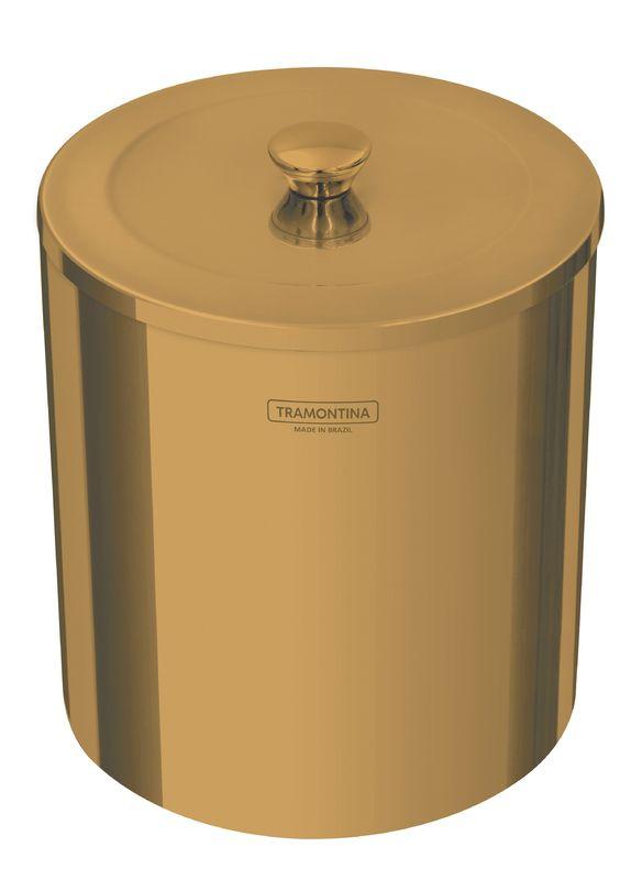Lixeira Útil 5 L em Aço Inox Scotch Brite com Revestimento Especial a Base de Verniz Gold Tramontina 94540/051