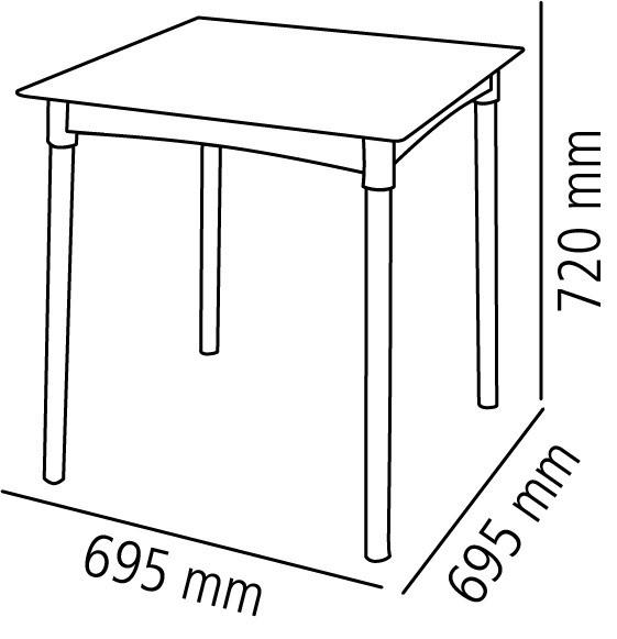 Mesa Quadrada Tramontina Diana Preta em Polipropileno com Pernas de Alumínio  92352/009