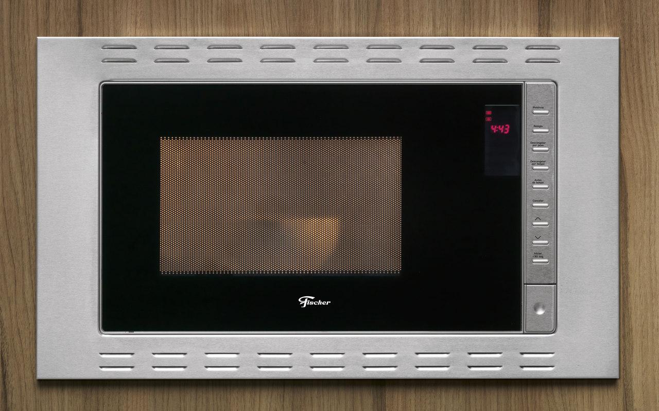 Micro-ondas de Embutir Fit Line 25 L Aço Inox 127 V Fischer