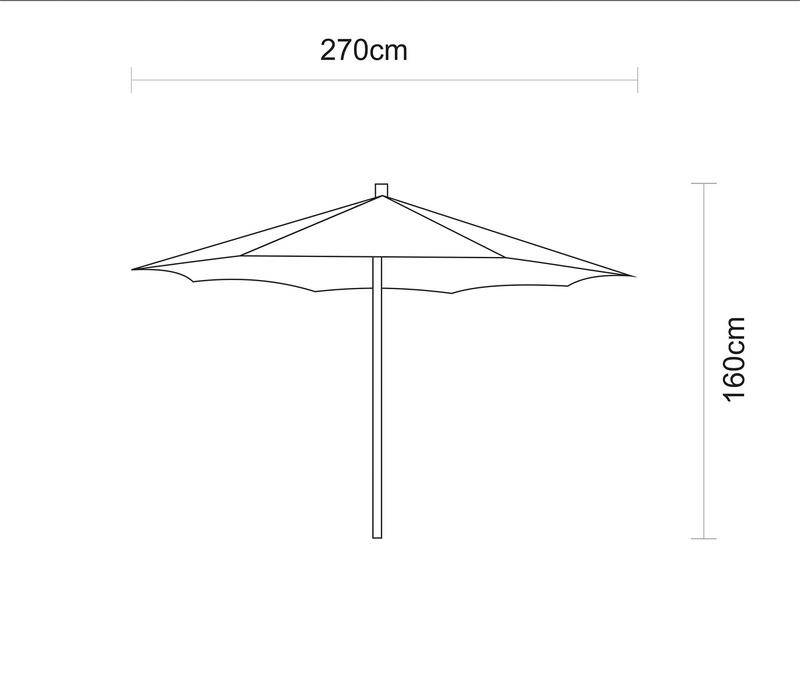 Ombrelone 2,7 metros Bege com Proteção UV Tramontina 10999/060