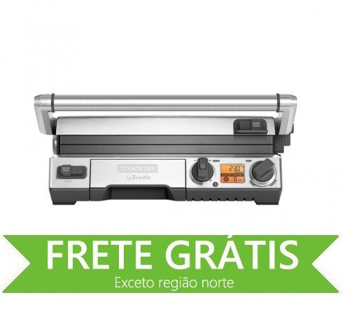 Grill Elétrico Smart em Aço Inox 127 V Tramontina by Breville 69035/011