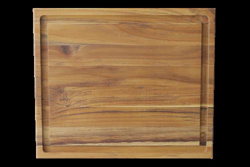 Tábua para Churrasco em Madeira Teca 39 x 33 cm