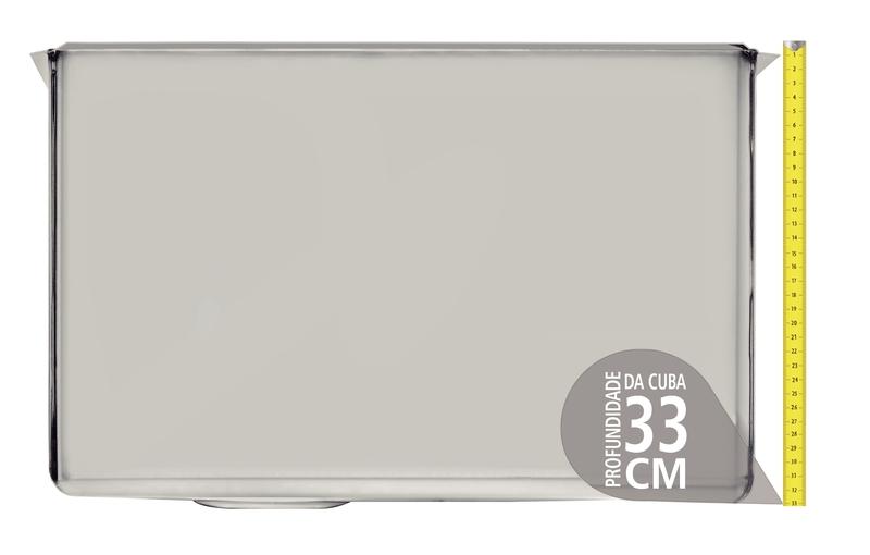 Tanque de embutir Jumbo 106 L em Aço Inox 70x50 cm Tramontina 94095/142