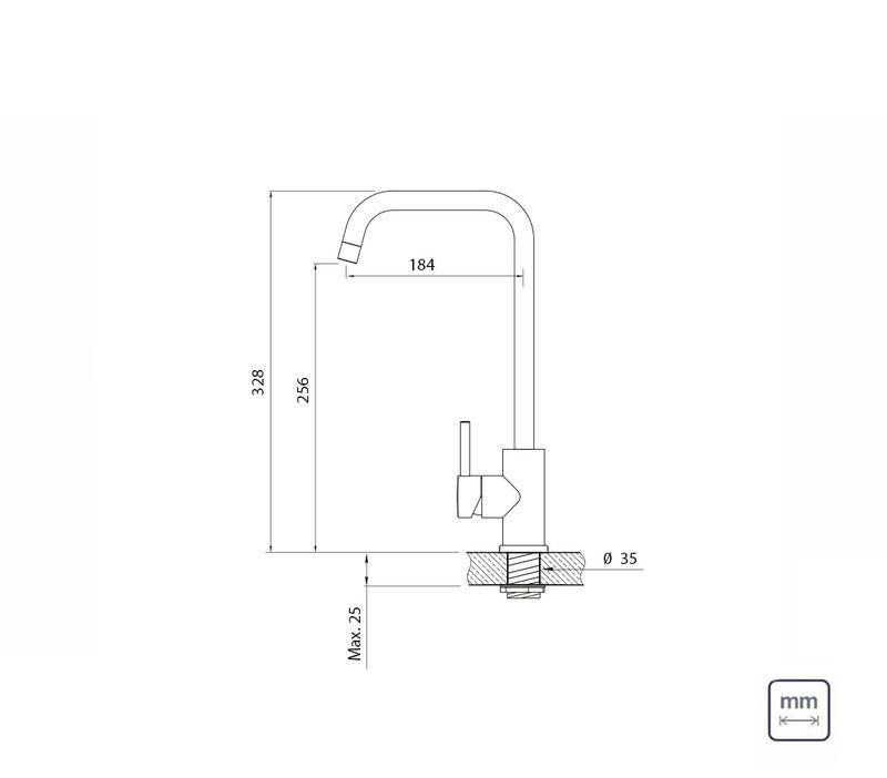 Torneira de Bancada Aço Inox 94520/020 Tramontina