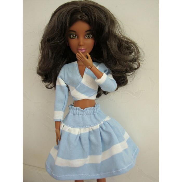 Conjunto Listrado para Barbie - Pullip  - CANTINHO DA MANDINHA