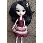 Vestido de Babado para Pullip e Barbie