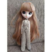 Macacão em Crochê para Pullip / Barbie