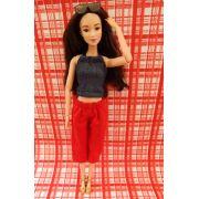 Conjunto de Calça Curta e Blusa para Barbie