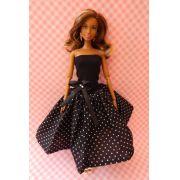 Vestido de Bolinha para Barbie