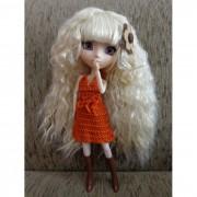 Vestido de frente única Pullip/Barbie/Liv