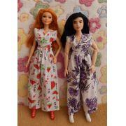 Conjunto de pantalona e blusa para Barbie