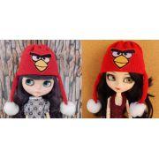 Touca Angry Birds para Blythe e Pullip