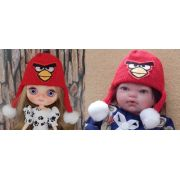 Touca Angry Birds para Middie e Mini Bebê reborn