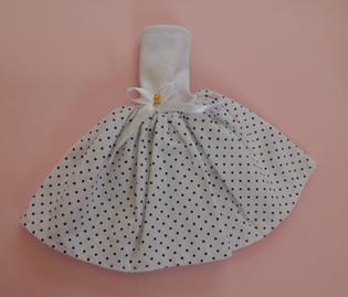 Vestido de Bolinha para Barbie  - CANTINHO DA MANDINHA
