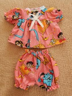 Conjunto de vestido e calcinha para Mini  Bebê Reborn  e Baby alive pequena  - CANTINHO DA MANDINHA