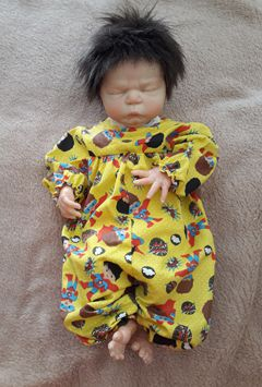 Macacão para bebê reborn  Prematuro Max Boy   - CANTINHO DA MANDINHA