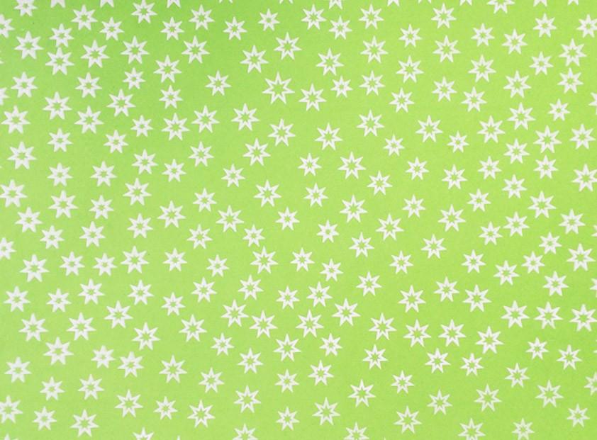 Placa Estrela Vazada Branca Fundo Verde Citrico 40x60cm  -