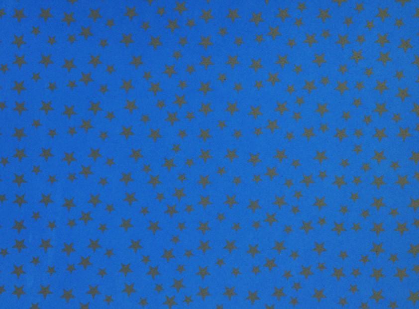 Placa Estrela Cheia Cinza Fundo Azul Royal 40x60cm  - Brindes Visão loja