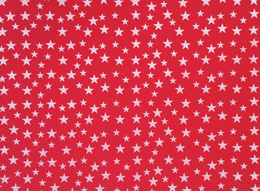 Placa Estrela Cheia Branca Fundo Vermelho 40x60cm  - Brindes Visão loja