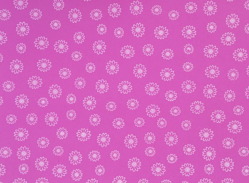 Placa Flor(3) Branca Fundo Rosa 40X60cm  - Brindes Visão loja