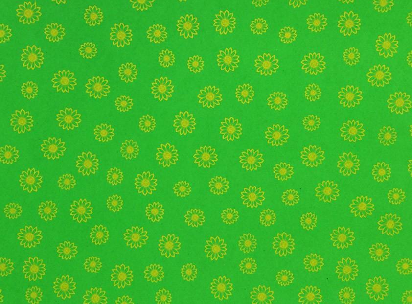 Placa  Flor(3) Amarela Fundo Verde Claro 40X60cm  -