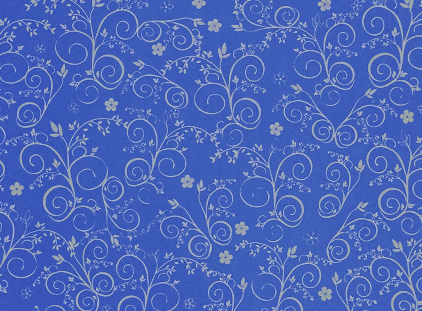 Placa Flor(9) Prata Fundo Azul Royal 40x60cm  -