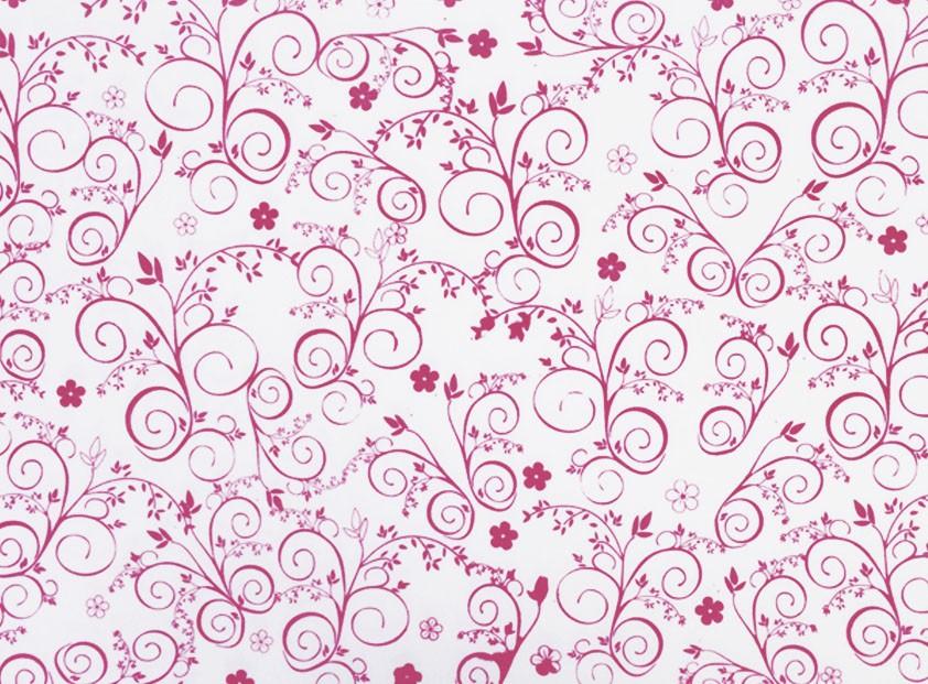 Placa Flor(9) Rosa Fundo Branco 40x60cm  -