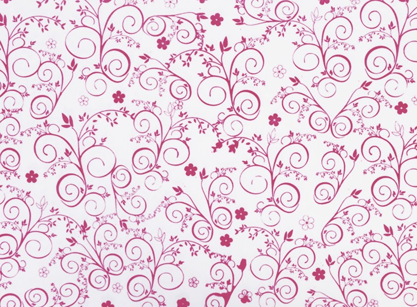 Placa Flor(9) Rosa Fundo Branco 40x60cm  - Brindes Visão loja
