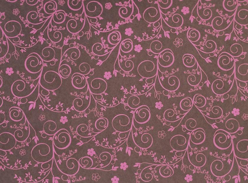Placa Flor(9) Rosa Fundo Marrom 40x60cm  -